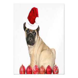 Perro del barro amasado del navidad invitaciones magnéticas