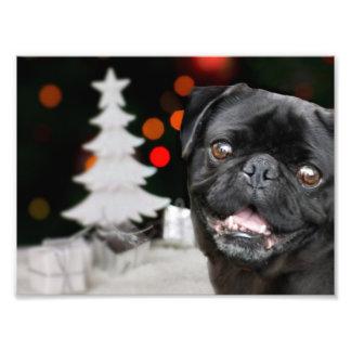 Perro del barro amasado del navidad foto