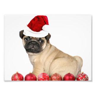 Perro del barro amasado del navidad impresiones fotograficas