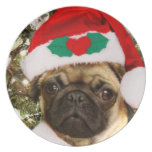 Perro del barro amasado del navidad platos de comidas