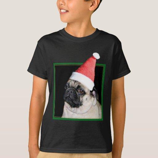 Perro del barro amasado del navidad playera