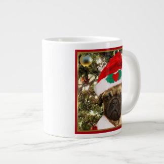 Perro del barro amasado del navidad taza de café grande
