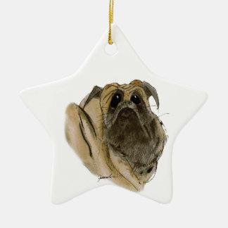 perro del barro amasado, fernandes tony adorno navideño de cerámica en forma de estrella