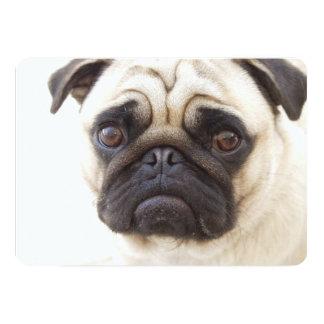 """Perro del barro amasado invitación 5"""" x 7"""""""