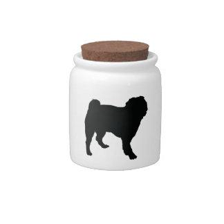 Perro del barro amasado jarra para caramelo