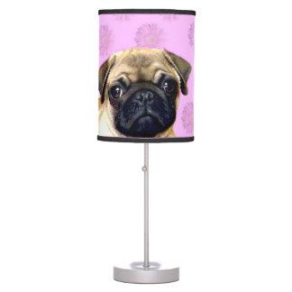 Perro del barro amasado lámpara de escritorio