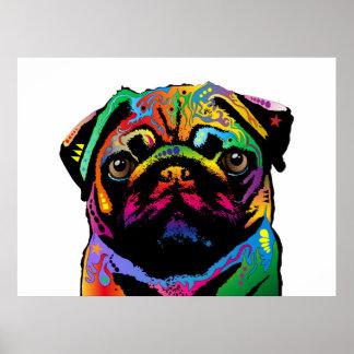 Perro del barro amasado póster