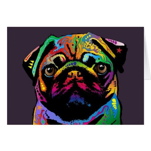Perro del barro amasado tarjeta de felicitación
