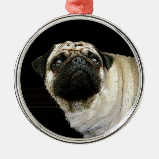 Perro del barro amasado y ornamento derramado de l ornaments para arbol de navidad