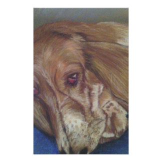 Perro del Bassett Papeleria Personalizada