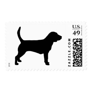 Perro del beagle (en negro) sello