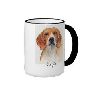 Perro del beagle en Watercolour Tazas De Café
