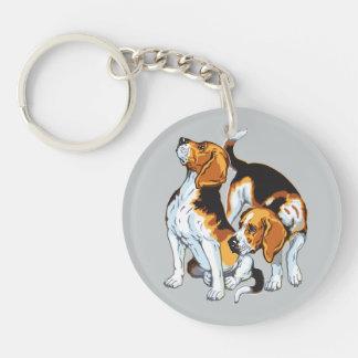perro del beagle llavero redondo acrílico a una cara