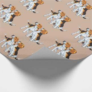 perro del beagle papel de regalo
