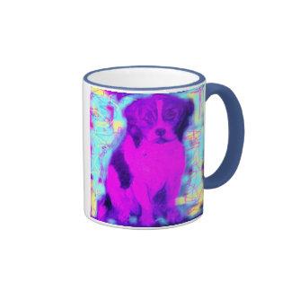 perro del beagle taza de café