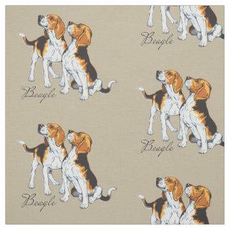 perro del beagle tela