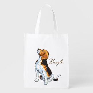 perro del beagle bolsas para la compra