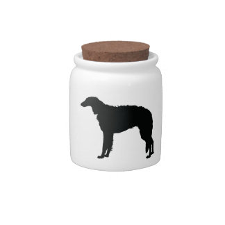 Perro del Borzoi Jarras Para Caramelos