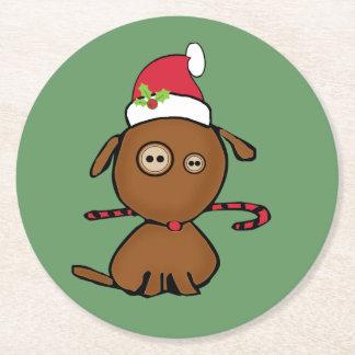 Perro del botón del navidad