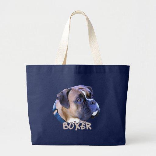 Perro del boxeador bolsa tela grande
