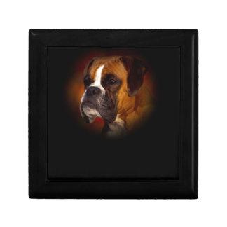 Perro del boxeador caja de recuerdo