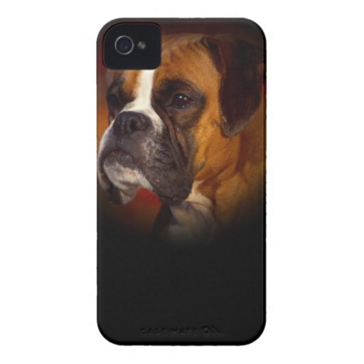 Perro del boxeador carcasa para iPhone 4