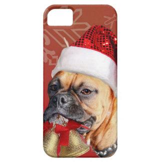 Perro del boxeador del navidad funda para iPhone SE/5/5s