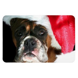 Perro del boxeador del navidad iman