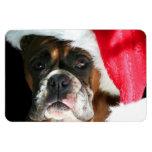 Perro del boxeador del navidad imán flexible