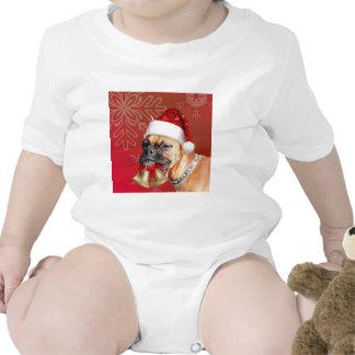 Perro del boxeador del navidad traje de bebé