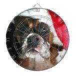 Perro del boxeador del navidad tablero dardos