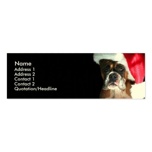 Perro del boxeador del navidad tarjetas de visita mini