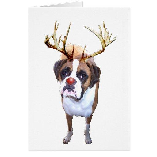 Perro del boxeador del navidad tarjetas
