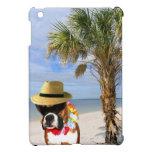 Perro del boxeador en caso del ipad de la playa el iPad mini cobertura