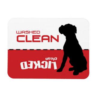 Perro del boxeador, imán del lavaplatos del perrit