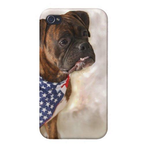 Perro del boxeador iPhone 4 carcasas