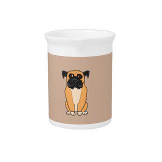 Perro del boxeador jarras