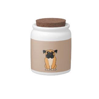 Perro del boxeador jarras para caramelos