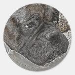 Perro del boxeador pegatina redonda