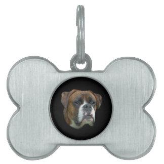 Perro del boxeador placa mascota