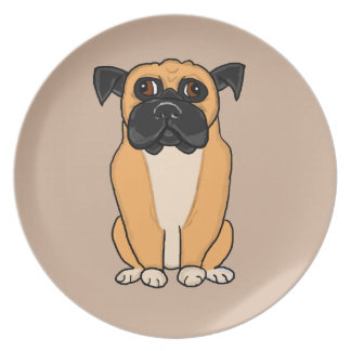 Perro del boxeador platos para fiestas