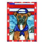 Perro del boxeador postal