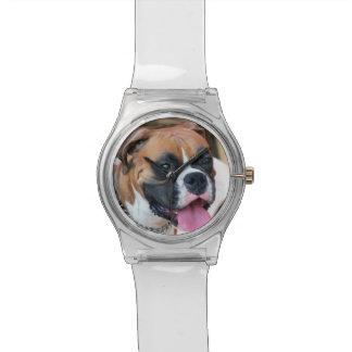 Perro del boxeador relojes de mano
