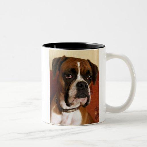 Perro del boxeador taza de dos tonos