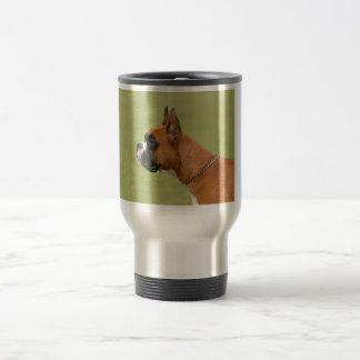 Perro del boxeador taza térmica
