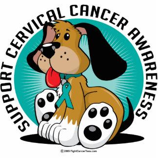 Perro del cáncer de cuello del útero fotoescultura vertical