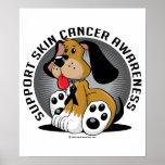 Perro del cáncer de piel poster