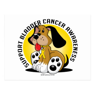 Perro del cáncer de vejiga tarjeta postal
