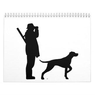 Perro del cazador calendarios de pared