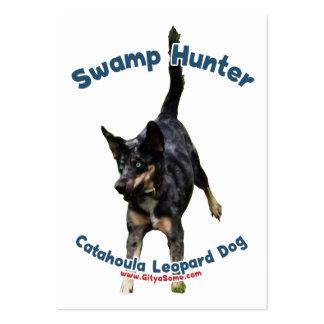Perro del cazador del pantano tarjeta de negocio